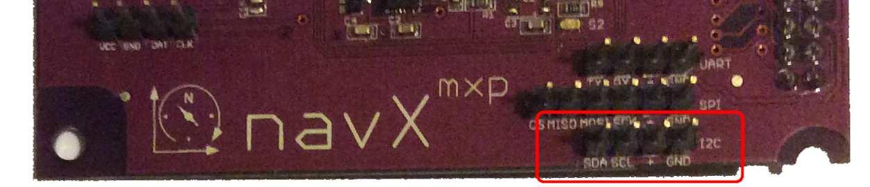 ftc installation navx mxp navx mxp external i2c port closeup